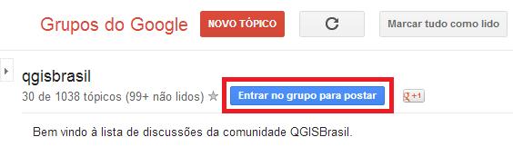 Cadastre-se no Grupo QGIS Brasil