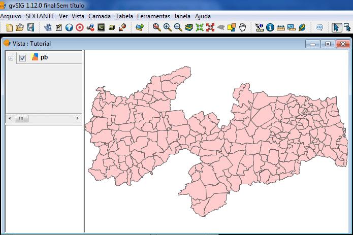 gvSIG: Dados Geográficos