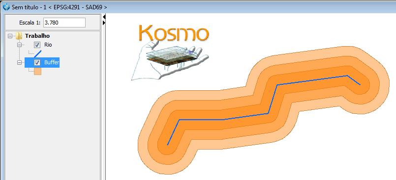 Geração de Buffer no Kosmo GIS