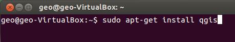 sudo apt-get install qgis