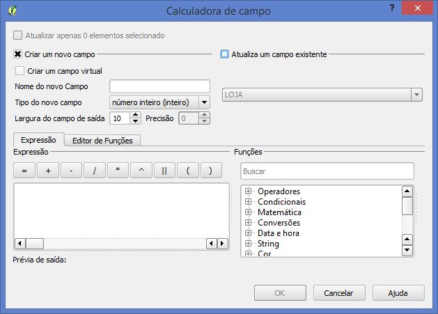 QGIS: Calculadora de Campos