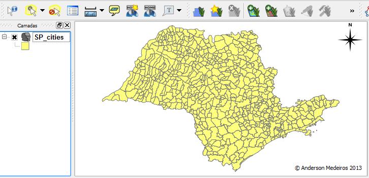 Mapa de São Paulo no QGIS