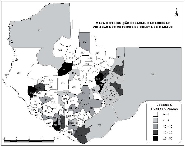 O uso do geoprocessamento no diagnóstico dos roteiros de coleta de lixo da cidade de Manaus