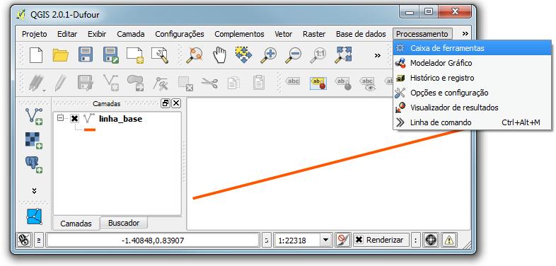 QGIS: Menu Processamento
