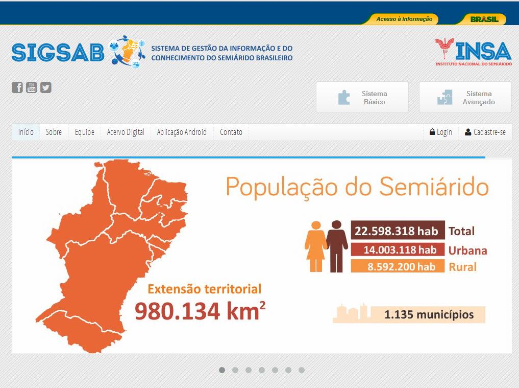 Sistema de Gestão da Informação e do Conhecimento do Semiárido Brasileiro (SIGSAB)