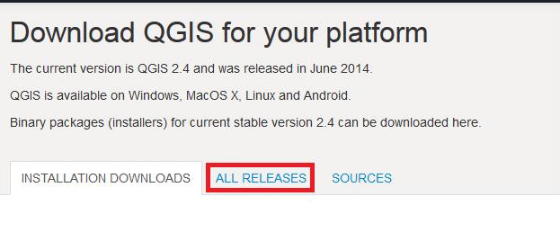Como Baixar Versões antigas do QGIS