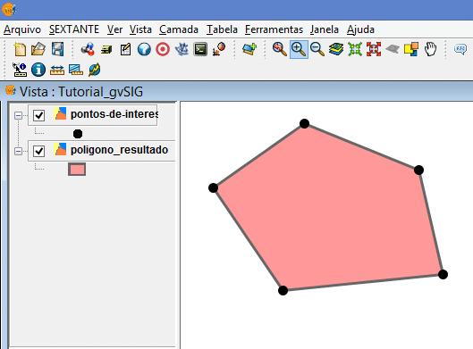 Como gerar um Polígono a partir de Pontos no gvSIG