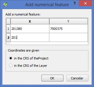 QGIS: Criar pontos digitando as Coordenadas
