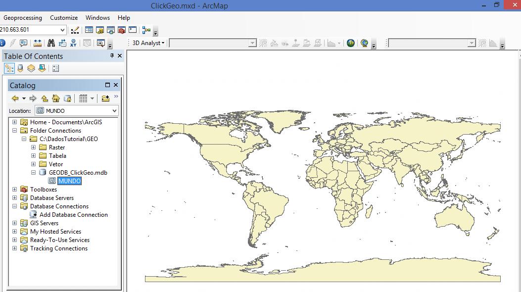 ArcGIS: Criar um Esri Personal Geodatabase e Importar Dados Geográficos