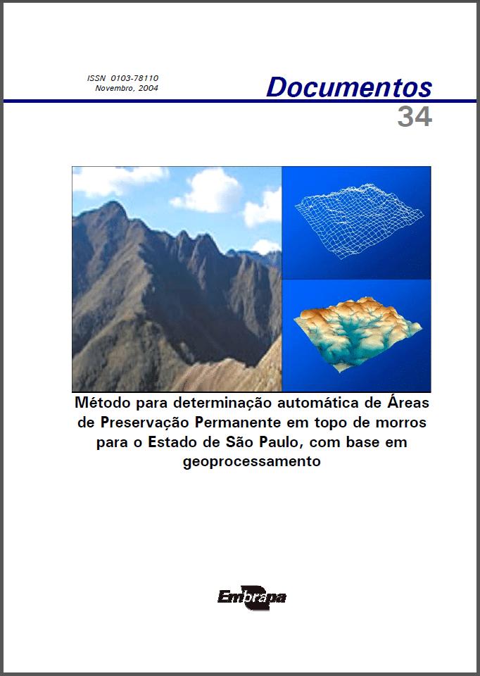 Método para Determinação automática de Áreas de Preservação Permanente em Topo de Morro