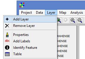 Como adicionar camadas no Diva-GIS