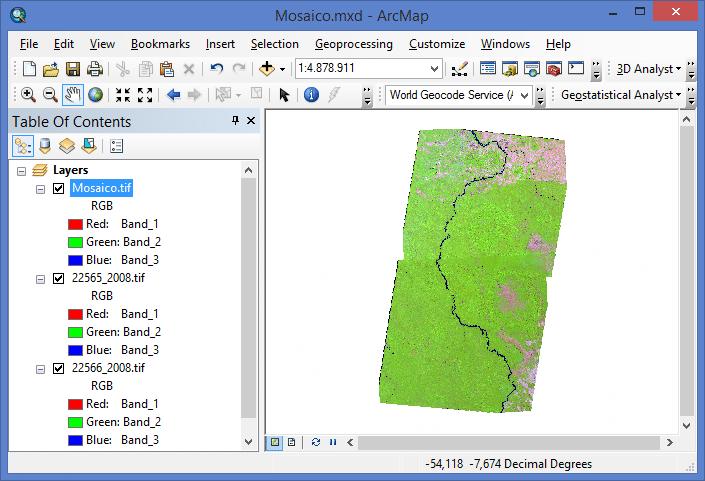 Como fazer Mosaico de Imagens no ArcGIS