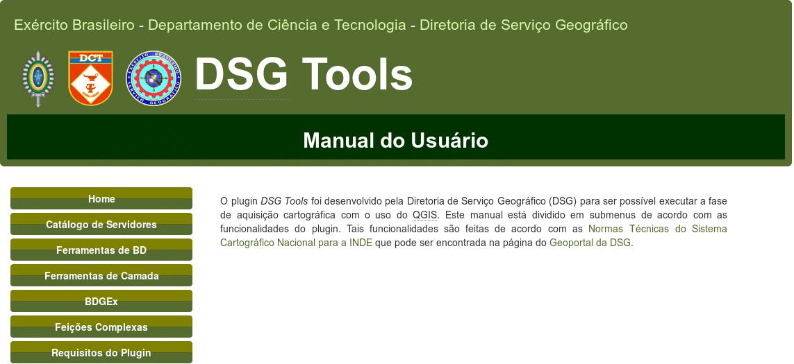 Diretoria de Serviço Geográfico (DSG)