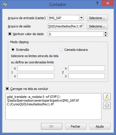 Recorte de Dados Matriciais com QGIS: Extensão
