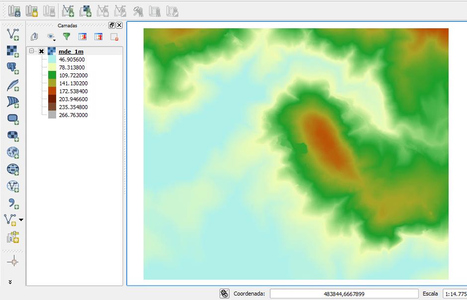 Modelo Digital de Elevação no QGIS
