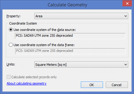 ArcGIS: Calculate Geometry