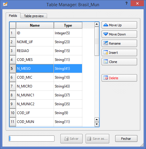 Plugin Table Manager