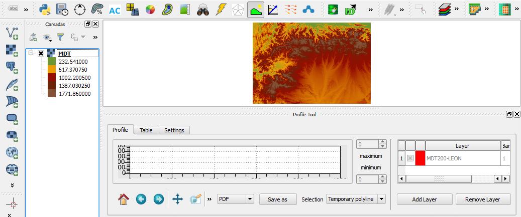 Geração de Perfis de Elevação no QGIS (Profile Tool)