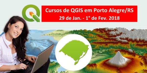 Últimas Vagas: Cursos de Geoprocessamento com QGIS em Porto Alegre/RS