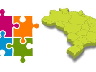 Quebra Cabeça com Mapa dos Estados do Brasil