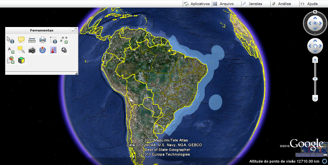 i3Geo com Google Earth