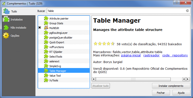Table Manager