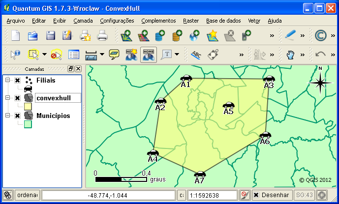 Convex Hull no QGIS