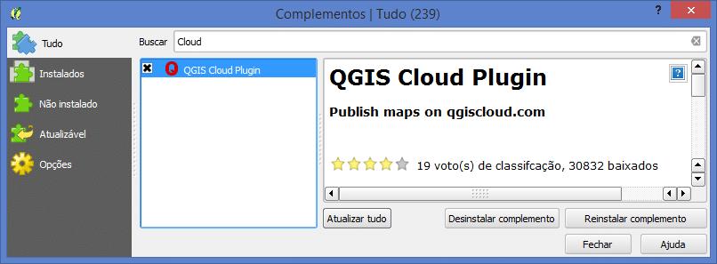 Instalar QGIS Cloud Plugin