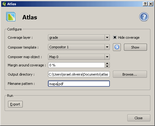 QGIS: Atlas Plugin