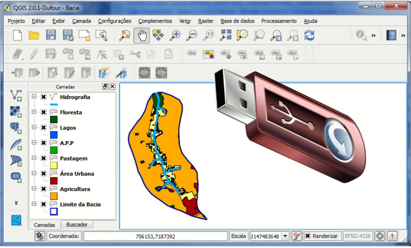 Download do QGIS 2.0 Dufour Portable
