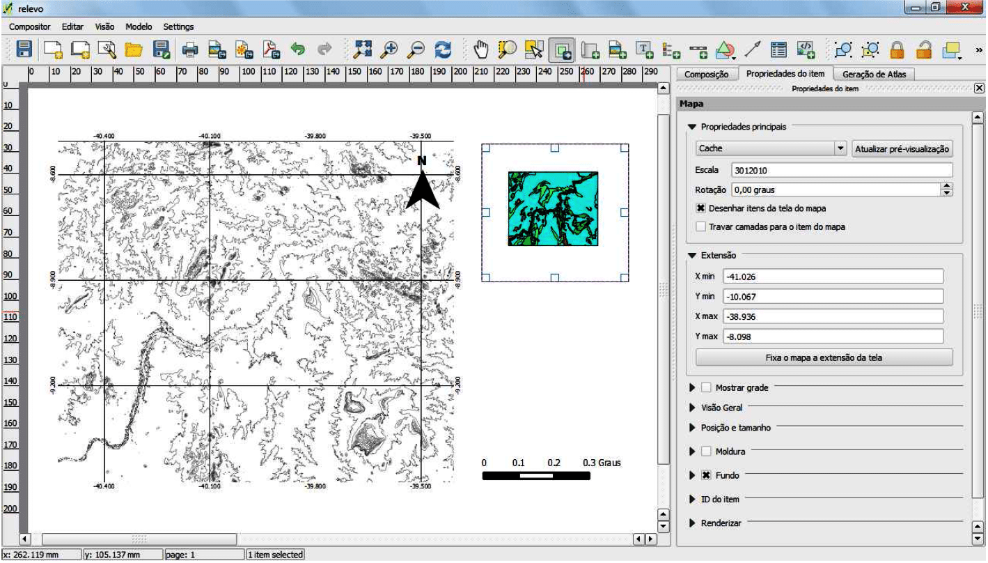 Layout de Mapas no QGIS