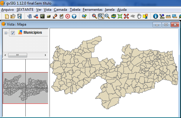 Shapefile com a divisão municipal do Estado da Paraíba