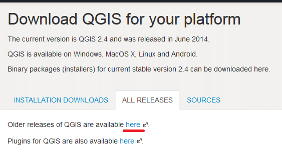 Download QGIS