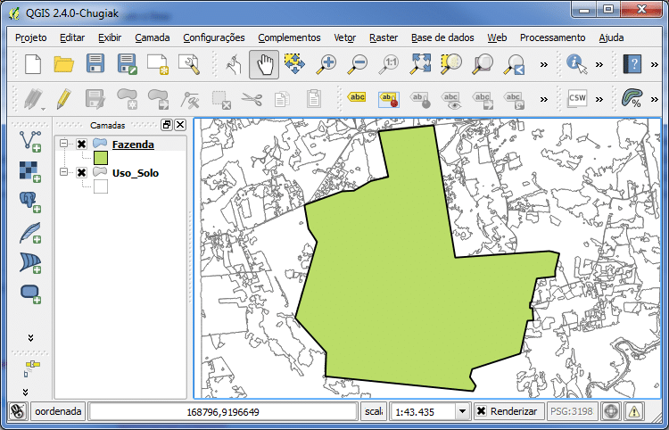 Buffer com base em Percentagem no QGIS