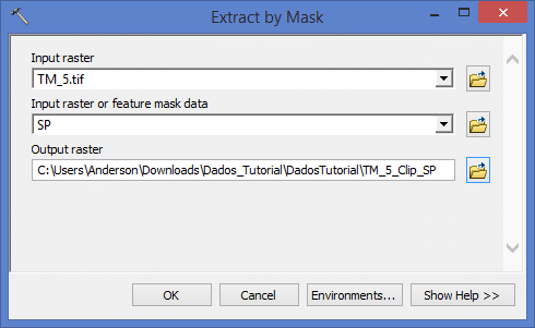 ArcGIS: Extract by Mask