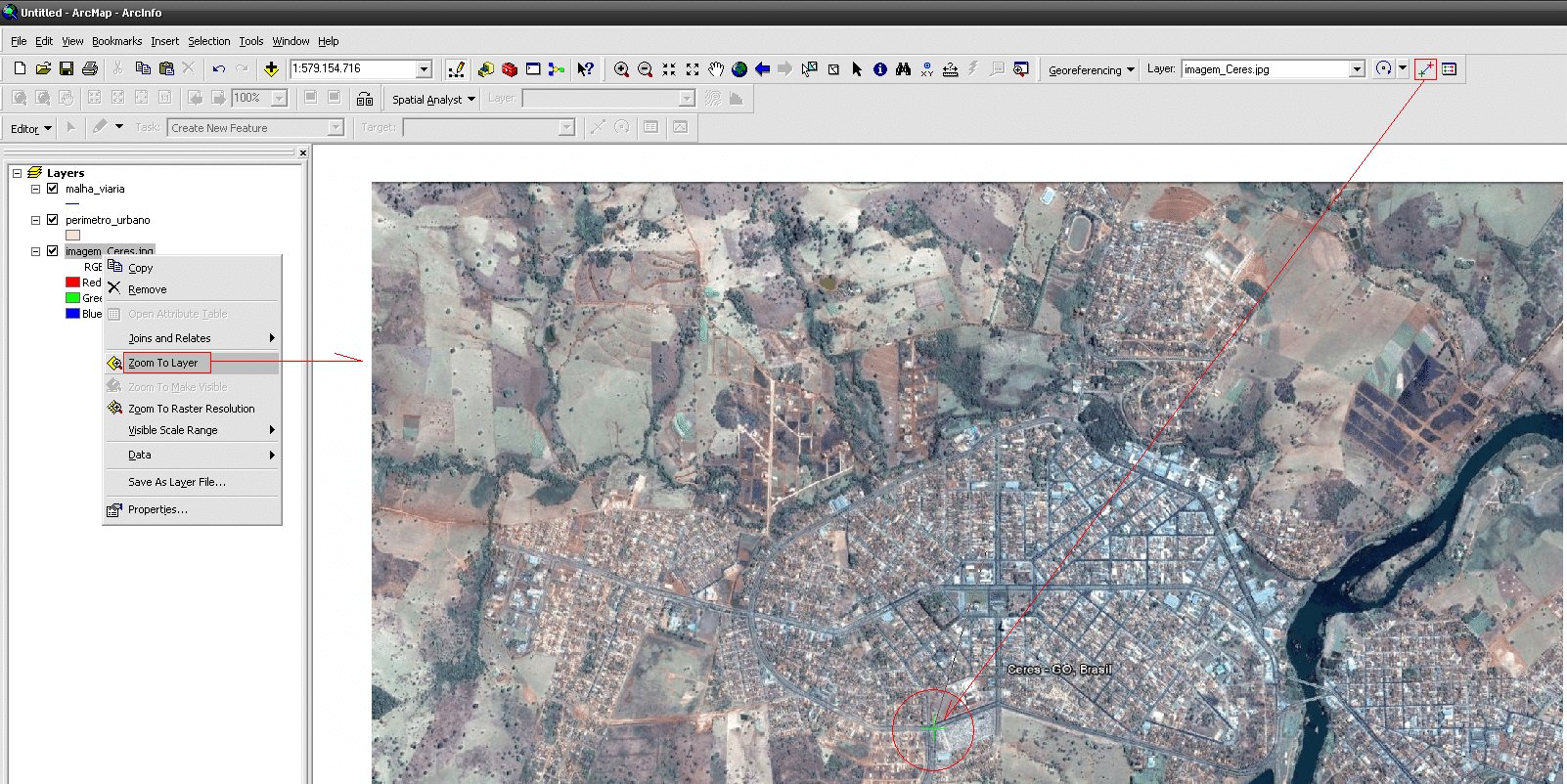 ArcGIS: Como Georreferenciar Imagens do Google Earth