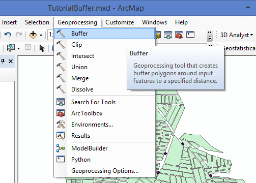 Buffer no ArcGIS