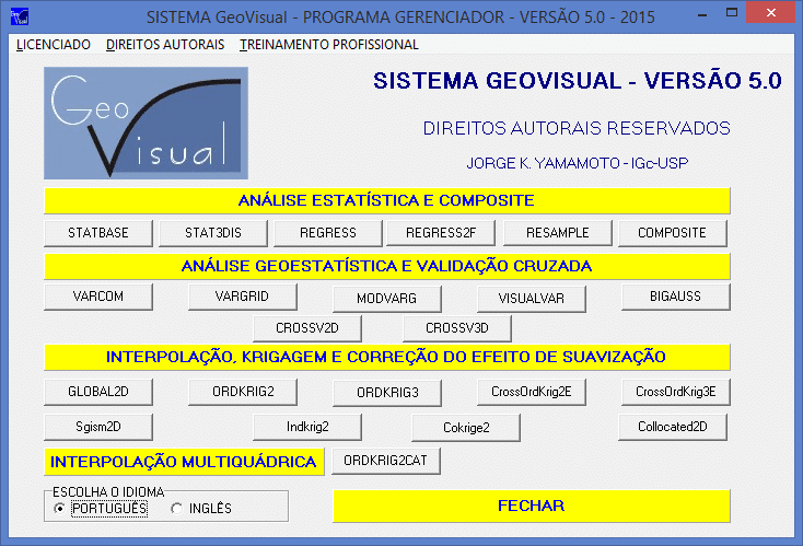 Interface do Software GeoVisual