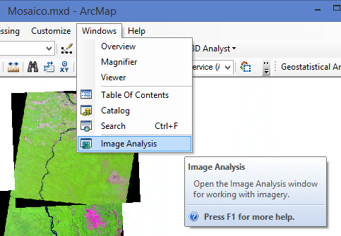 Image Analysis no ArcGIS