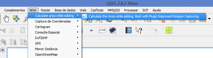 Plugin CalcArea no QGIS