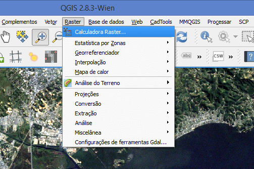 Como usar o Raster Calculator no QGIS