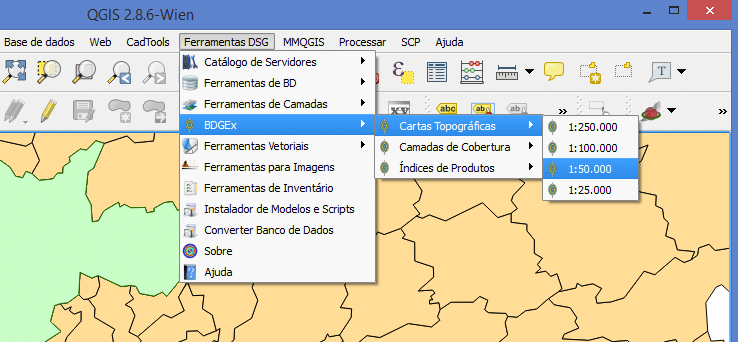 Ferramentas do plugin DSGTools for QGIS