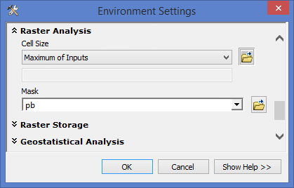 ArcGIS - Environment Setting: Raster Analysis