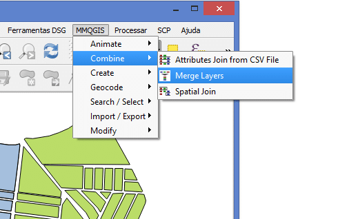 Merge no QGIS com Plugin MMQGIS