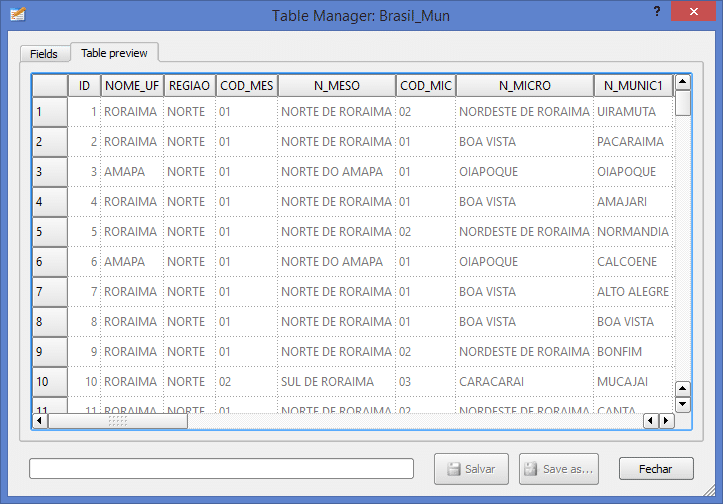 QGIS: Manipular Tabela de Atributo com o Plugin Table Manager