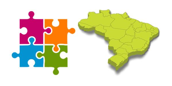 Para Crianças: Quebra Cabeça com Mapa dos Estados Brasil