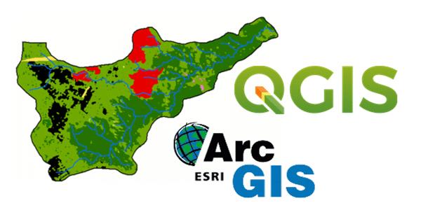 Comparação dos produtos de variáveis Geomorfométricas com uso do QGIS e ArcGIS