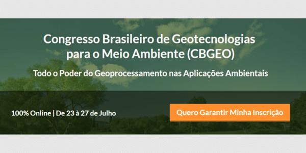 Congresso Brasileiro de Geotecnologias para o Meio Ambiente (CBGEO)