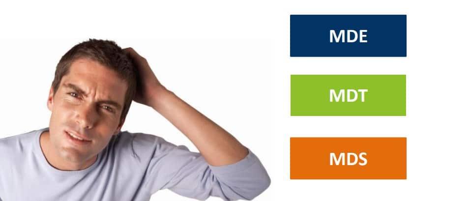 Qual é a Diferença entre MDE, MDT e MDS?