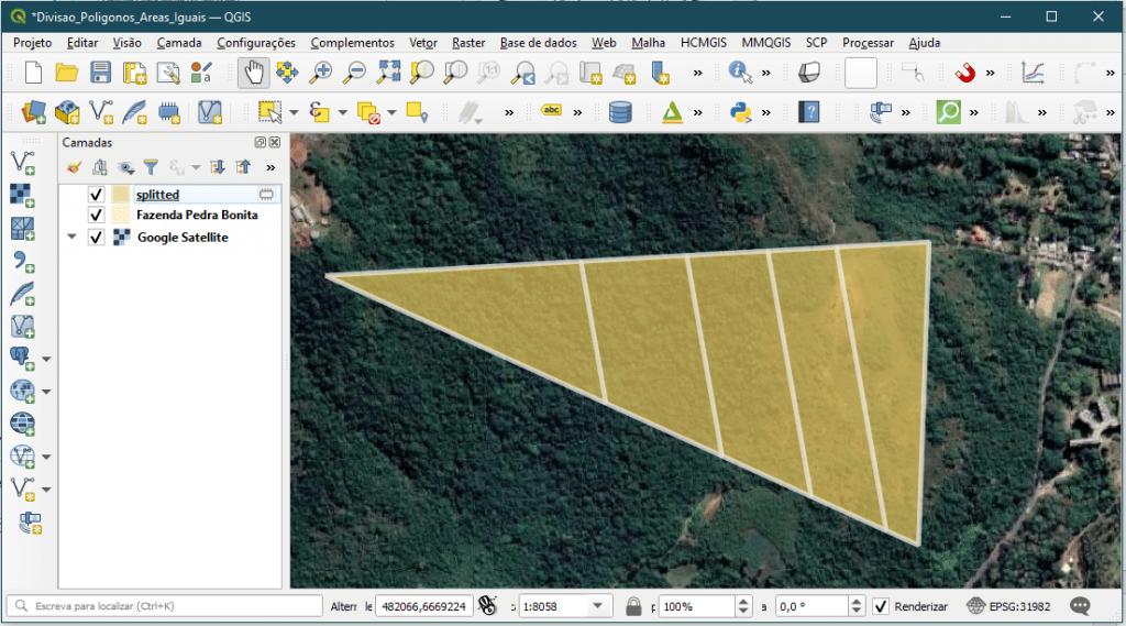 Tutorial: Como Dividir Polígonos em partes com Áreas Iguais no QGIS